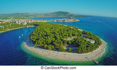 Primosten beaches aerial shot