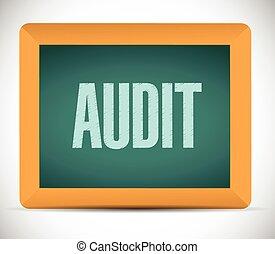 audit board sign illustration design over a white background...