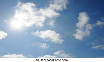 HD time lapse of clouds - HD time lapse footage of clouds...
