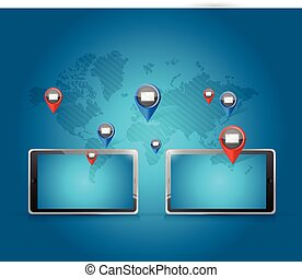 tablet media communication network