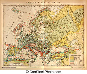 Old Climate Map of Europe