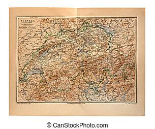 antigas, população, mapa, de, Europa,