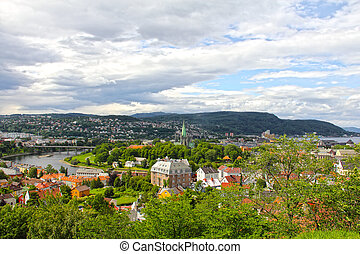 Panorama of Trondheim - Panoramic view on city of Trondheim...