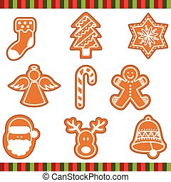 Christmas Cookies - Scalable vectorial image representing a...