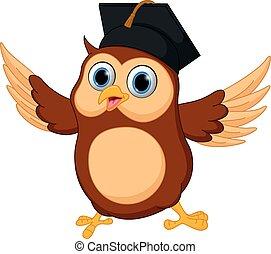 Happy Owl cartoon - Vector Illustration of Happy Owl cartoon...