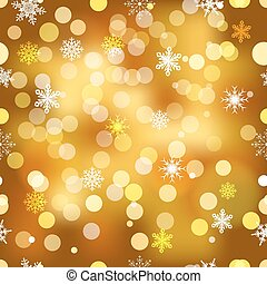 Vector seamless snowflakes background.