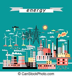 pattern of thermal and wind power - graphic color pattern of...