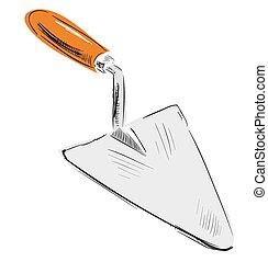 Spatula icon - Hand drawing sketch Eps 10 vector...