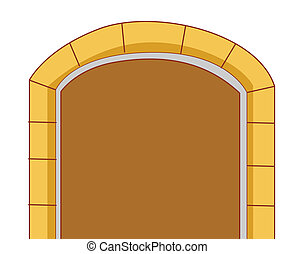 Door - illustration drawing of a great door isolate in white...