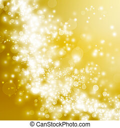 Golden abstract lights background - Bright golden gradient...