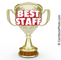 Best Staff Trophy Prize Award Top Workforce Team Employees -...