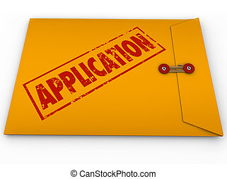 Application Yellow Envelope Submit Apply Job Credit Approval...