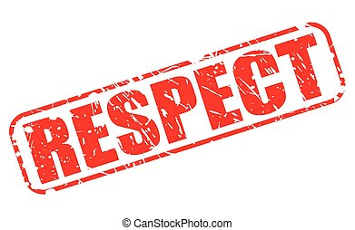 RESPECT red stamp text on white
