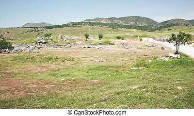 The Ruins Of Side - the ruins of the ancient city wall in...