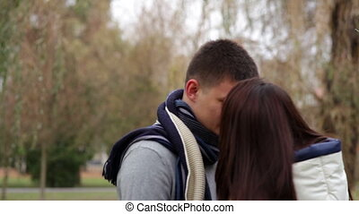 loving couple are hugging in the