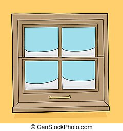 volets, fenêtre, neige