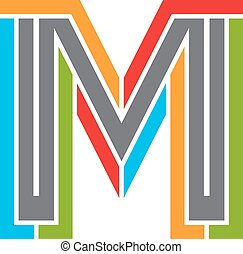 Modern corporate colorful letter fo