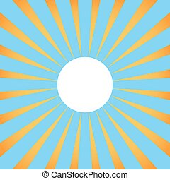 Background with sun rays with white center.