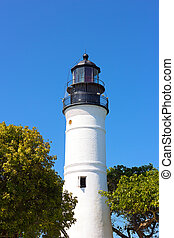 Lighthouse of Key West, Florida Full length image of the...
