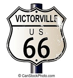 Victorville Route 66 Sign - Victorville Route 66 traffic...