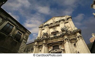 Catholic church of Catania Sicily, southern Italy Baroque...