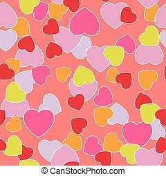 caramel - background with hearts for Valentine's Day. Vector...