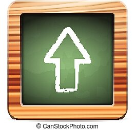 blackboard up arrow - Blackboard up arrow on a white...
