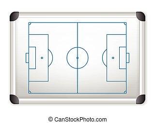 whiteboard soccer - Sport field plan on whiteboard.