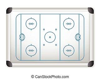 whiteboard hockey - Sport field plan on whiteboard
