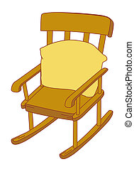 Rocking chair - illustration drawing of rocking chair with...