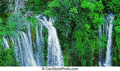 Top of the Manojlovac waterfall at Krka river - Top of the...