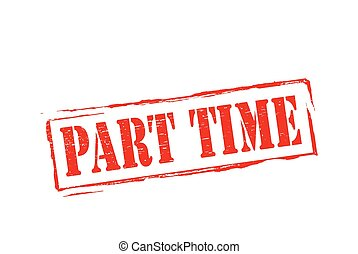 Part time - Stamp with text part time inside, vector...