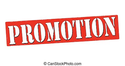 Promotion - Stamp with word promotion inside, vector...