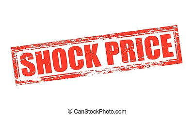 Shock price - Stamp with text shock price inside, vector...