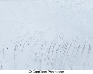 thin ice - abstraction unusual surface of thin ice with lots...