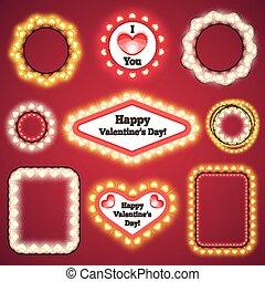 Valentines Lights Decorations Set3 for Celebratory Design....