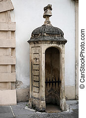 Old sentry box at the Hofburg at Heldenplatz in Vienna