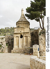 Yad Avshalom Tomb of Absalom, an ancient monumental tomb in...