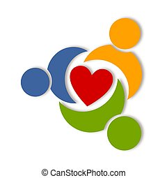 Abstract health life logo - Colorful graphic design over...