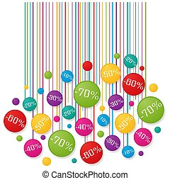 Soldes tag - Colorful graphic design over white