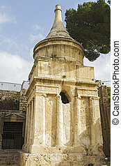 Yad Avshalom (Tomb of Absalom), an ancient monumental tomb...