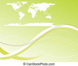 worldmap - vector illustration of a worldmap on an abstract...