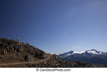 An Inukshuk on Whistler - An Inukshuk at the top of the Peak...