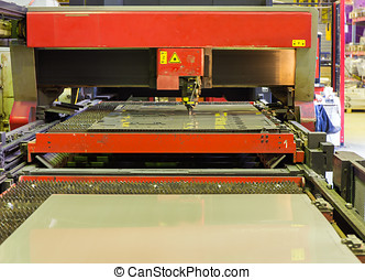 Laser cutting machine - laser cutting machine during...
