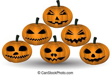 Pumkin - Six halloween pumkins