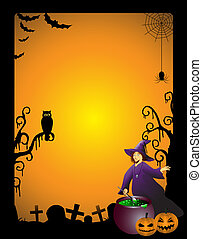 Witch - Halloween background