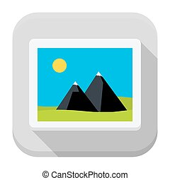 Image flat app icon with long shadow