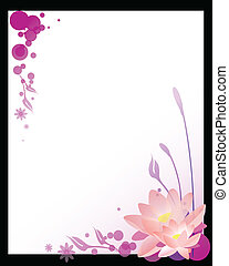 lotus flower - vector illustration of a floral background