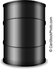 Black Oil Barrel - Barrel of black oil, vector eps10...