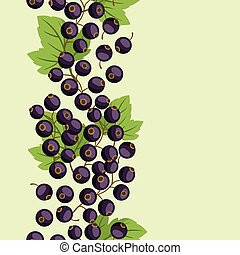 Nature background design with black currants - Nature...